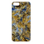 Antique Anciently Gold Blue Vintage Design Apple iPhone 5 Seamless Case (White) Front