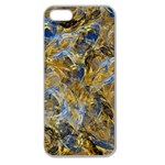 Antique Anciently Gold Blue Vintage Design Apple Seamless iPhone 5 Case (Clear) Front