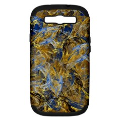 Antique Anciently Gold Blue Vintage Design Samsung Galaxy S Iii Hardshell Case (pc+silicone)