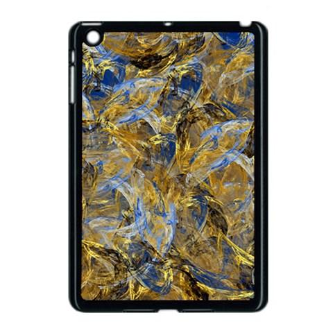 Antique Anciently Gold Blue Vintage Design Apple iPad Mini Case (Black)