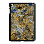 Antique Anciently Gold Blue Vintage Design Apple iPad Mini Case (Black) Front