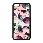 Spiral Eucalyptus Leaves Apple iPhone 5C Seamless Case (Black) Front