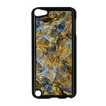 Antique Anciently Gold Blue Vintage Design Apple iPod Touch 5 Case (Black) Front