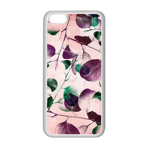 Spiral Eucalyptus Leaves Apple iPhone 5C Seamless Case (White)