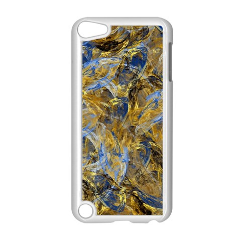Antique Anciently Gold Blue Vintage Design Apple iPod Touch 5 Case (White)