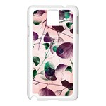 Spiral Eucalyptus Leaves Samsung Galaxy Note 3 N9005 Case (White) Front