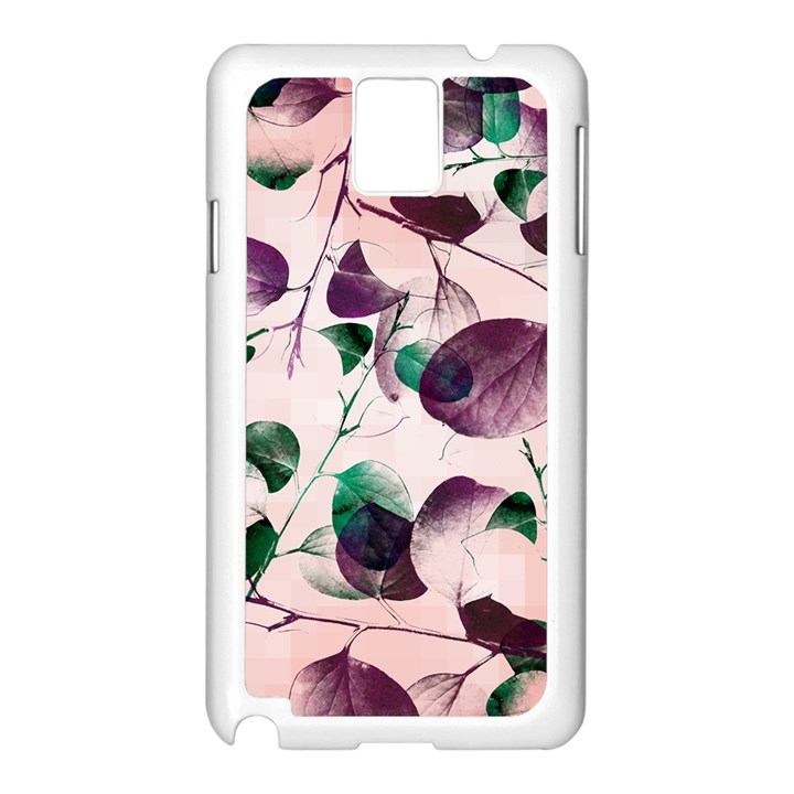Spiral Eucalyptus Leaves Samsung Galaxy Note 3 N9005 Case (White)