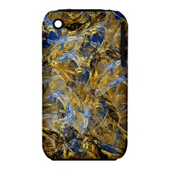 Antique Anciently Gold Blue Vintage Design Apple iPhone 3G/3GS Hardshell Case (PC+Silicone)