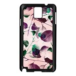 Spiral Eucalyptus Leaves Samsung Galaxy Note 3 N9005 Case (Black) Front