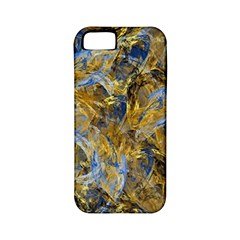 Antique Anciently Gold Blue Vintage Design Apple Iphone 5 Classic Hardshell Case (pc+silicone)