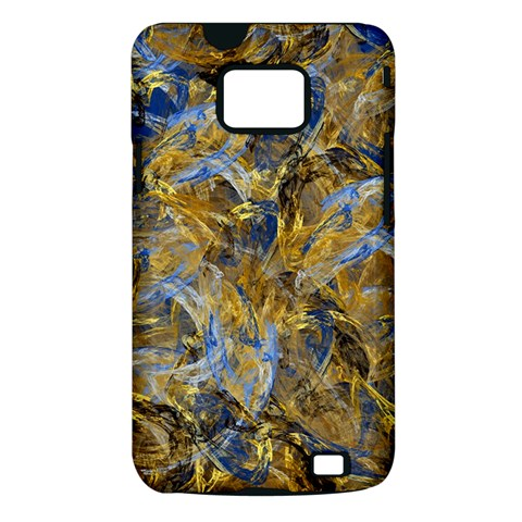 Antique Anciently Gold Blue Vintage Design Samsung Galaxy S II i9100 Hardshell Case (PC+Silicone)