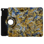 Antique Anciently Gold Blue Vintage Design Apple iPad Mini Flip 360 Case Front
