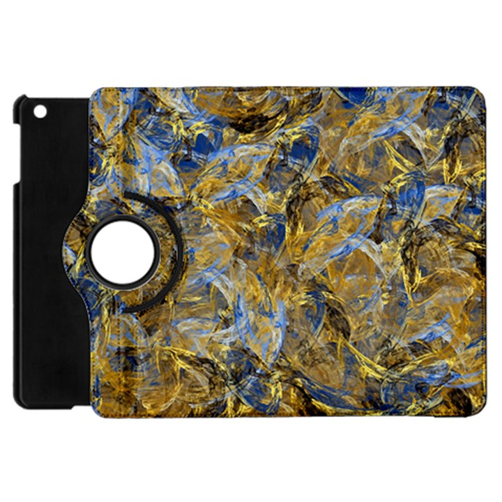Antique Anciently Gold Blue Vintage Design Apple iPad Mini Flip 360 Case