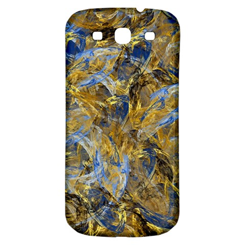 Antique Anciently Gold Blue Vintage Design Samsung Galaxy S3 S III Classic Hardshell Back Case