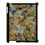 Antique Anciently Gold Blue Vintage Design Apple iPad 3/4 Case (Black) Front