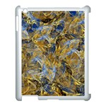 Antique Anciently Gold Blue Vintage Design Apple iPad 3/4 Case (White) Front