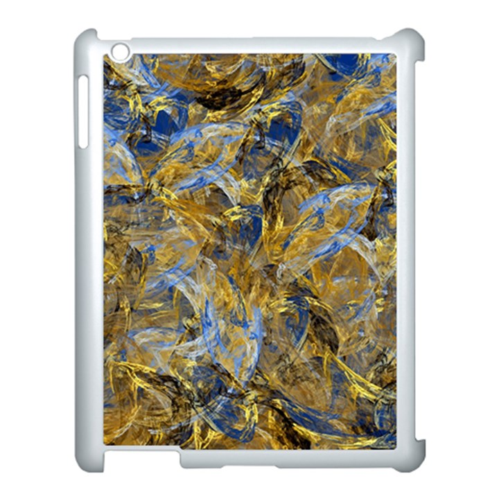 Antique Anciently Gold Blue Vintage Design Apple iPad 3/4 Case (White)
