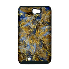 Antique Anciently Gold Blue Vintage Design Samsung Galaxy Note 2 Hardshell Case (PC+Silicone)
