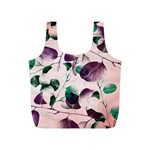 Spiral Eucalyptus Leaves Full Print Recycle Bags (S)  Back