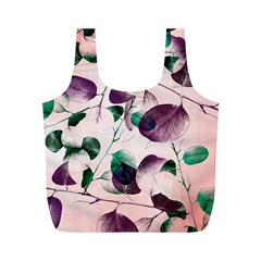 Spiral Eucalyptus Leaves Full Print Recycle Bags (M)