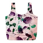 Spiral Eucalyptus Leaves Full Print Recycle Bags (L)  Back