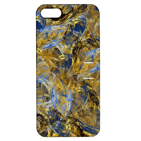 Antique Anciently Gold Blue Vintage Design Apple iPhone 5 Hardshell Case with Stand