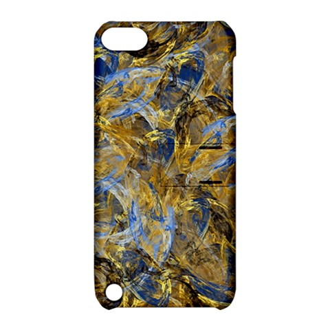 Antique Anciently Gold Blue Vintage Design Apple iPod Touch 5 Hardshell Case with Stand