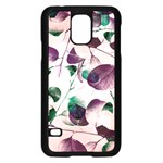 Spiral Eucalyptus Leaves Samsung Galaxy S5 Case (Black) Front