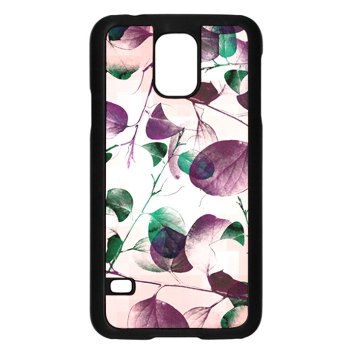 Spiral Eucalyptus Leaves Samsung Galaxy S5 Case (Black)