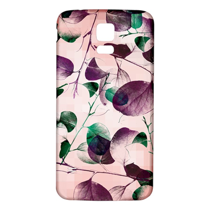 Spiral Eucalyptus Leaves Samsung Galaxy S5 Back Case (White)