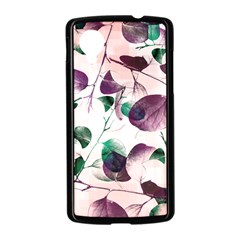 Spiral Eucalyptus Leaves Nexus 5 Case (Black)