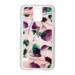 Spiral Eucalyptus Leaves Samsung Galaxy S5 Case (White) Front
