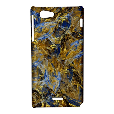 Antique Anciently Gold Blue Vintage Design Sony Xperia J