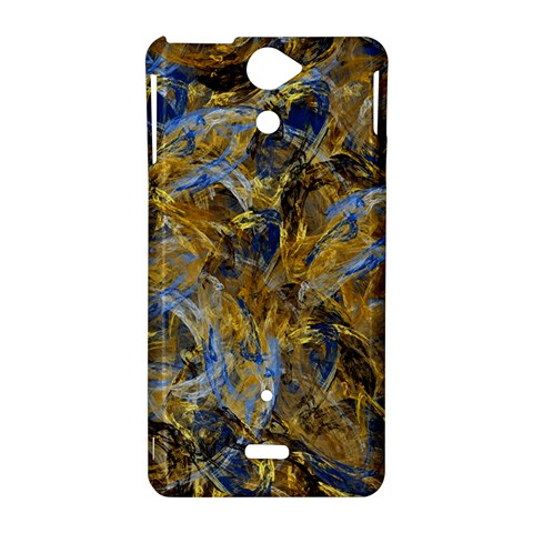 Antique Anciently Gold Blue Vintage Design Sony Xperia V