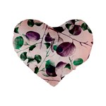Spiral Eucalyptus Leaves Standard 16  Premium Flano Heart Shape Cushions Front
