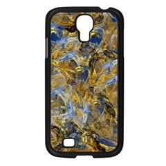 Antique Anciently Gold Blue Vintage Design Samsung Galaxy S4 I9500/ I9505 Case (black)
