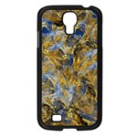 Antique Anciently Gold Blue Vintage Design Samsung Galaxy S4 I9500/ I9505 Case (Black) Front