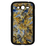 Antique Anciently Gold Blue Vintage Design Samsung Galaxy Grand DUOS I9082 Case (Black) Front