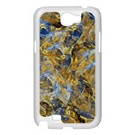 Antique Anciently Gold Blue Vintage Design Samsung Galaxy Note 2 Case (White) Front
