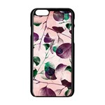 Spiral Eucalyptus Leaves Apple iPhone 6/6S Black Enamel Case Front