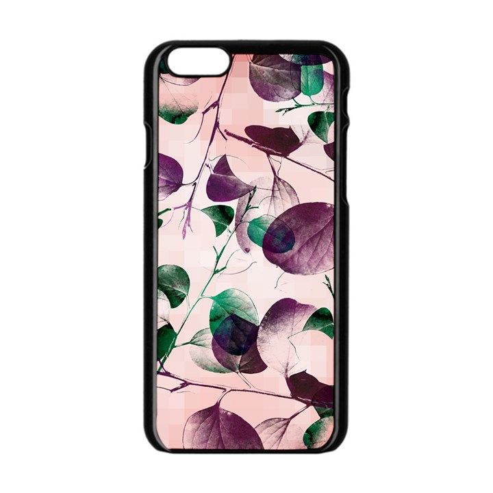 Spiral Eucalyptus Leaves Apple iPhone 6/6S Black Enamel Case