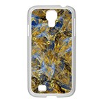 Antique Anciently Gold Blue Vintage Design Samsung GALAXY S4 I9500/ I9505 Case (White) Front