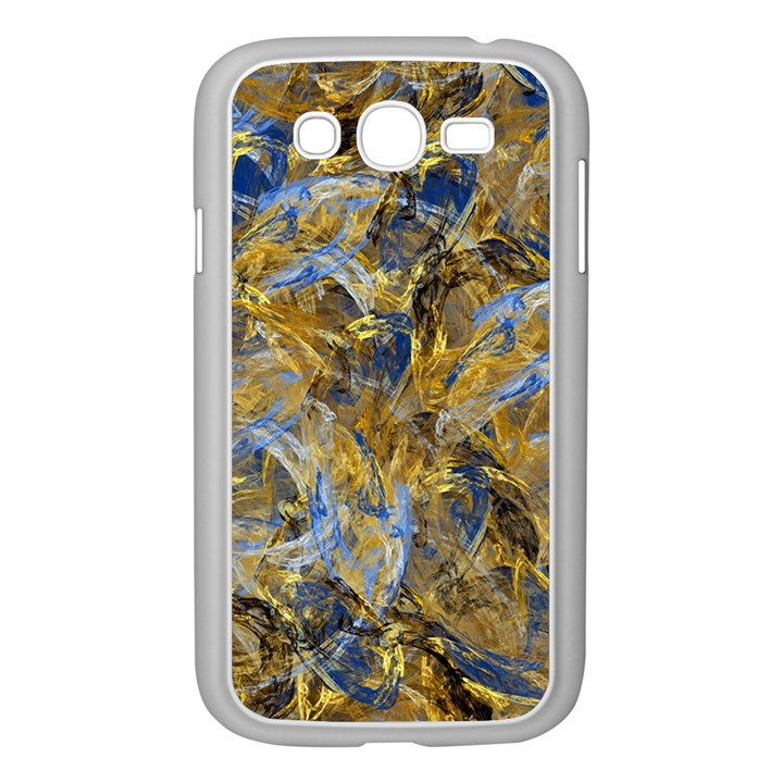 Antique Anciently Gold Blue Vintage Design Samsung Galaxy Grand DUOS I9082 Case (White)