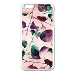 Spiral Eucalyptus Leaves Apple iPhone 6 Plus/6S Plus Enamel White Case Front