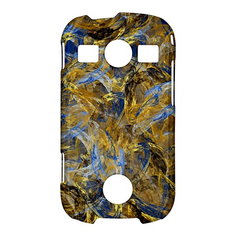 Antique Anciently Gold Blue Vintage Design Samsung Galaxy S7710 Xcover 2 Hardshell Case