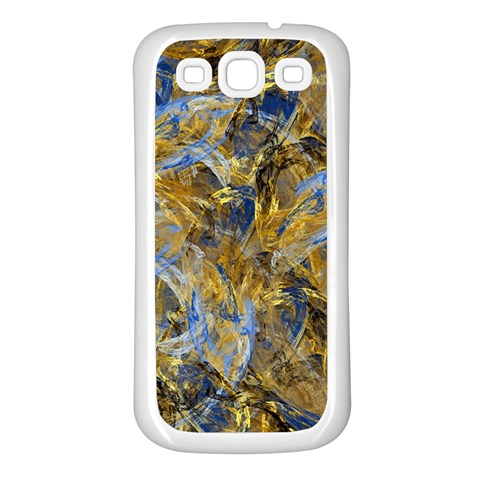 Antique Anciently Gold Blue Vintage Design Samsung Galaxy S3 Back Case (White)