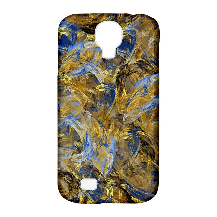 Antique Anciently Gold Blue Vintage Design Samsung Galaxy S4 Classic Hardshell Case (PC+Silicone)