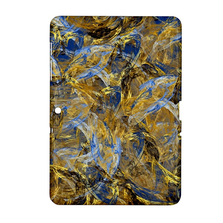 Antique Anciently Gold Blue Vintage Design Samsung Galaxy Tab 2 (10.1 ) P5100 Hardshell Case