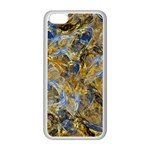 Antique Anciently Gold Blue Vintage Design Apple iPhone 5C Seamless Case (White) Front