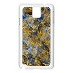 Antique Anciently Gold Blue Vintage Design Samsung Galaxy Note 3 N9005 Case (White) Front